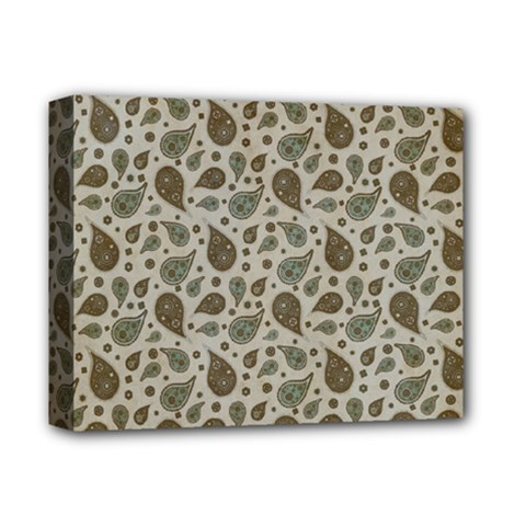 Vintage Paisley Grey Deluxe Canvas 14  X 11  by MoreColorsinLife