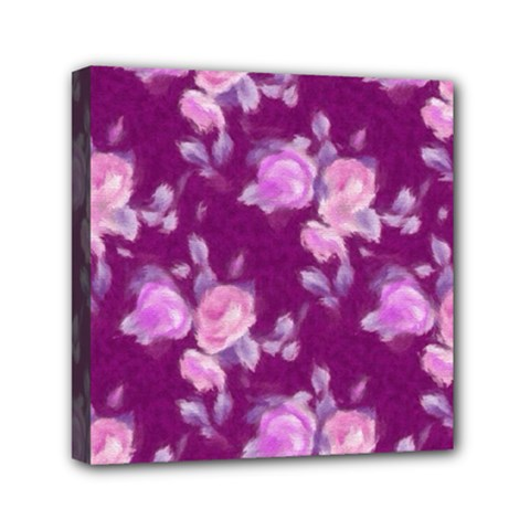 Vintage Roses Pink Mini Canvas 6  X 6  by MoreColorsinLife