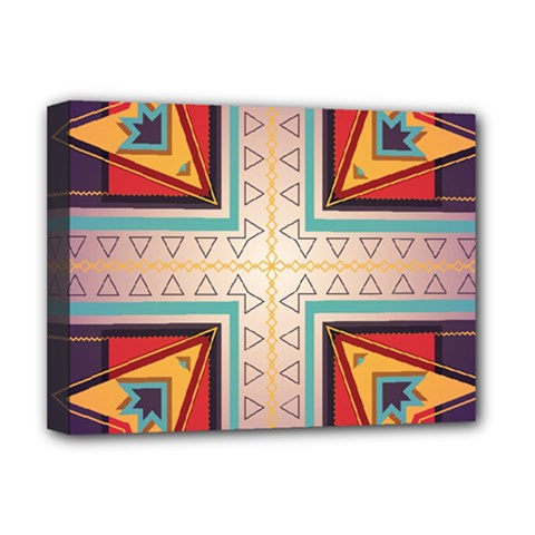 Cross And Other Shapes Deluxe Canvas 16  X 12  (stretched)  by LalyLauraFLM