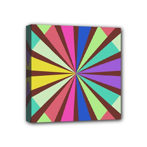 Rays In Retro Colors Mini Canvas 4  X 4  (stretched) by LalyLauraFLM
