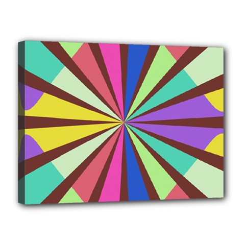 Rays In Retro Colors Canvas 16  X 12  (stretched) by LalyLauraFLM
