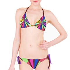 Rays In Retro Colors Bikini Set