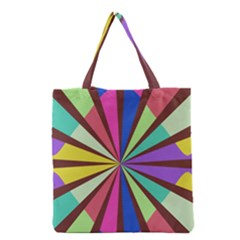 Rays In Retro Colors Grocery Tote Bag by LalyLauraFLM
