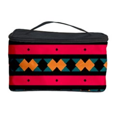 Rhombus and stripes pattern Cosmetic Storage Case by LalyLauraFLM