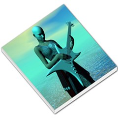 Sad Guitar Small Memo Pads by icarusismartdesigns