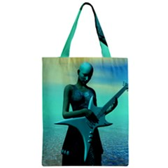 Sad Guitar Zipper Classic Tote Bags by icarusismartdesigns