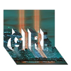 New York 2014 1206 Girl 3d Greeting Card (7x5)  by JAMFoto