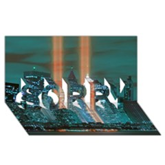 New York 2014 1206 Sorry 3d Greeting Card (8x4)