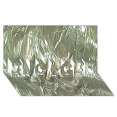 Crumpled Foil Engaged 3d Greeting Card (8x4)  by MoreColorsinLife