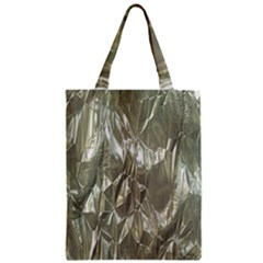 Crumpled Foil Zipper Classic Tote Bags by MoreColorsinLife