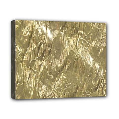 Crumpled Foil Golden Canvas 10  X 8  by MoreColorsinLife