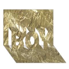 Crumpled Foil Golden Boy 3d Greeting Card (7x5)