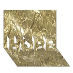 Crumpled Foil Golden Hope 3d Greeting Card (7x5)  by MoreColorsinLife