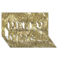 Crumpled Foil Golden Merry Xmas 3d Greeting Card (8x4)