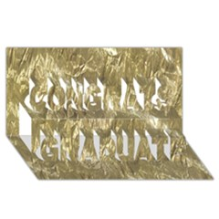 Crumpled Foil Golden Congrats Graduate 3d Greeting Card (8x4)
