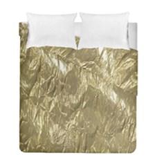 Crumpled Foil Golden Duvet Cover (Twin Size) by MoreColorsinLife