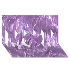 Crumpled Foil Lilac Mom 3d Greeting Card (8x4)  by MoreColorsinLife