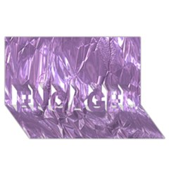 Crumpled Foil Lilac Engaged 3d Greeting Card (8x4)  by MoreColorsinLife