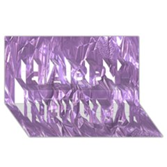 Crumpled Foil Lilac Happy New Year 3d Greeting Card (8x4)  by MoreColorsinLife