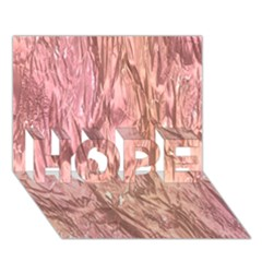 Crumpled Foil Pink Hope 3d Greeting Card (7x5)  by MoreColorsinLife