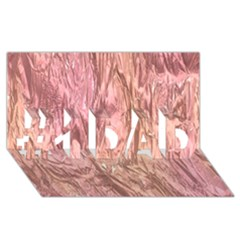 Crumpled Foil Pink #1 Dad 3d Greeting Card (8x4)