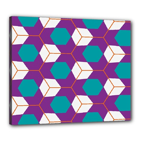 Cubes In Honeycomb Pattern Canvas 24  X 20  (stretched) by LalyLauraFLM