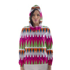 Chevron Pattern Hooded Wind Breaker (women) by LalyLauraFLM