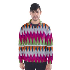 Chevron Pattern Wind Breaker (men)