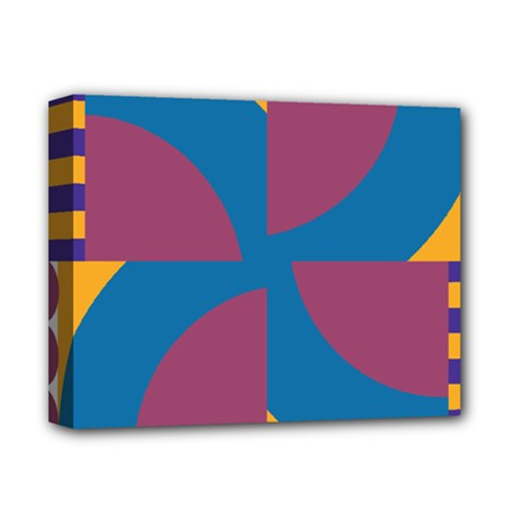 Blue Flower Deluxe Canvas 14  X 11  (stretched) by LalyLauraFLM