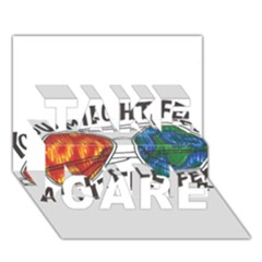Little Fear Take Care 3d Greeting Card (7x5)