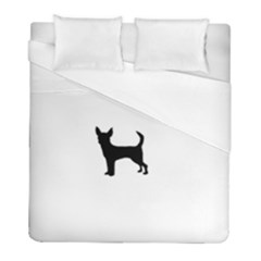 Chihuahua Silhouette Duvet Cover Single Side (Twin Size) by TailWags