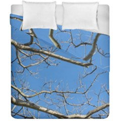 Leafless Tree Branches Against Blue Sky Duvet Cover (double Size) by dflcprints