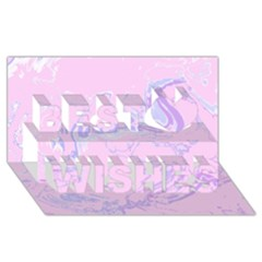 Unique Marbled 2 Baby Pink Best Wish 3d Greeting Card (8x4)