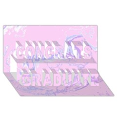 Unique Marbled 2 Baby Pink Congrats Graduate 3d Greeting Card (8x4)  by MoreColorsinLife