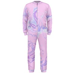 Unique Marbled 2 Baby Pink Onepiece Jumpsuit (men)  by MoreColorsinLife