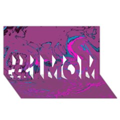 Unique Marbled 2 Hot Pink #1 Mom 3d Greeting Cards (8x4)  by MoreColorsinLife