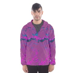 Unique Marbled 2 Hot Pink Hooded Wind Breaker (men)