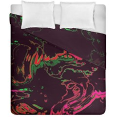 Unique Marbled 2 Tropic Duvet Cover (double Size) by MoreColorsinLife