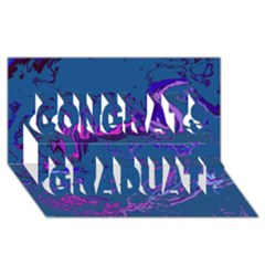 Unique Marbled 2 Blue Congrats Graduate 3d Greeting Card (8x4)