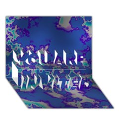 Unique Marbled Blue You Are Invited 3d Greeting Card (7x5)  by MoreColorsinLife