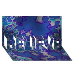 Unique Marbled Blue Believe 3d Greeting Card (8x4)  by MoreColorsinLife
