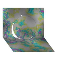 Unique Marbled Candy Circle 3d Greeting Card (7x5)  by MoreColorsinLife