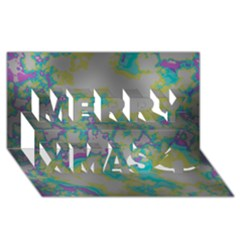 Unique Marbled Candy Merry Xmas 3d Greeting Card (8x4)