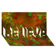 Unique Marbled Hot Believe 3d Greeting Card (8x4)  by MoreColorsinLife