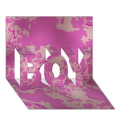 Unique Marbled Pink Boy 3d Greeting Card (7x5)