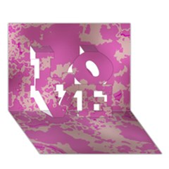 Unique Marbled Pink Love 3d Greeting Card (7x5)  by MoreColorsinLife