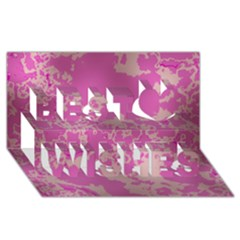 Unique Marbled Pink Best Wish 3d Greeting Card (8x4)