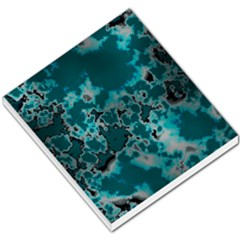 Unique Marbled Teal Small Memo Pads by MoreColorsinLife