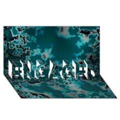 Unique Marbled Teal Engaged 3d Greeting Card (8x4)  by MoreColorsinLife