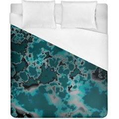 Unique Marbled Teal Duvet Cover Single Side (double Size) by MoreColorsinLife